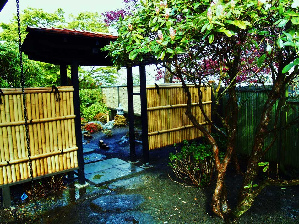 Japanese Garden Design Woodwork Water