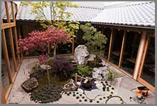 Japanese Garden Design In A Restaurant