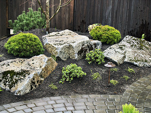Backyard chinese gardens on pinterest japanese gardens for Small rock garden designs