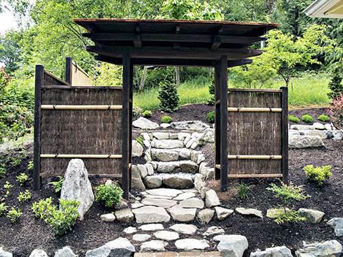 Japanese Garden Wooden Gate