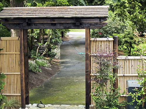 Japanese Garden Woodworks -Wooden Gates - Bamboo Fences