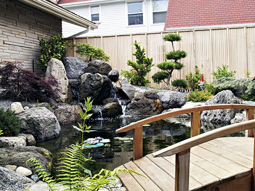 Zen Japanese Water Garden Designs WATER GARDEN KOI POND WATERFALL Simple Zen Garden Designs Gallery