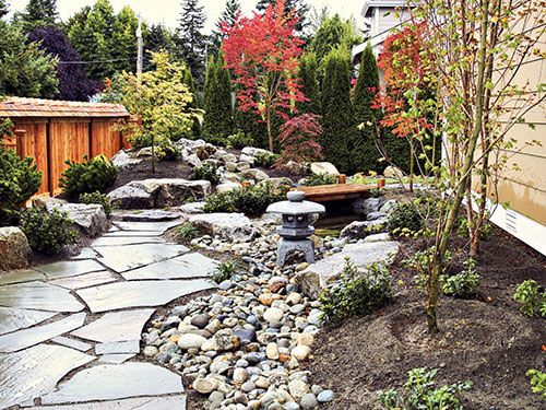 Image gallery japanese water garden designs for Japanese koi pond garden