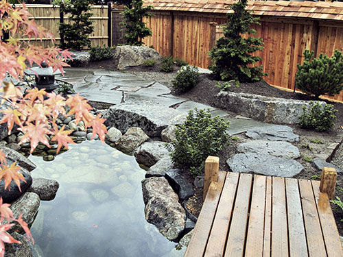 Japanese Water Garden Koi Pond Designs