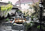 Japanese Water Garden koi Pond with waterfall