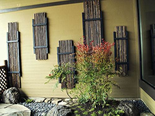 Japanese garden woodworks wooden gates bamboo fences japanese bamboo fencing japanese garden bamboo ornament workwithnaturefo