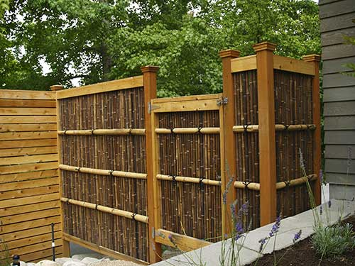Japanese Bamboo Wood Fence Designs