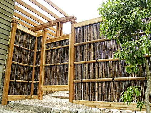 ... Japanese Bamboo Wood Fence Designs ...