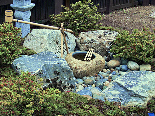 Japanese Garden Tsukubai Water Basin