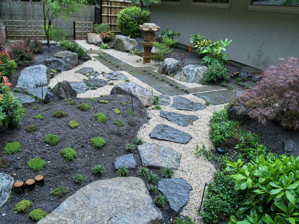 Stone Zen Garden Yamanes japanese garden construction workwithnaturefo